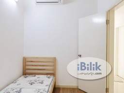 Room Rental in Kuala Lumpur - F.Furnished Single Room with Private External Toilet for rent at Casa Green @ Bukit Jalil (walking distance to LRT Muhibah)