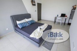 Room Rental in Selangor - Zero Deposit Now,Fully Furnished Master Privated BathRoom W/Aircond& Nice Lake View @Astetica Ktm Seri Kembangan Walking Distance to The Mines Mall