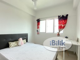 Room Rental in Kuala Lumpur - All Female Fully Furnished Balcony Room for Rent in Bukit Jalil .