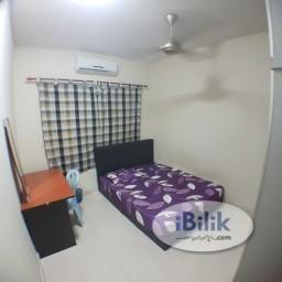 Room Rental in Petaling Jaya - comfortable ZERO DEPO Sunway Suriamas Condo Medium Room near Sunway Pyramid, BRT, KTM, Mentari PJS10