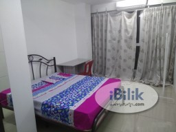 Room Rental in Petaling Jaya - Cozy Ara Damansara Middle Room at Pacific Place, near LRT Station