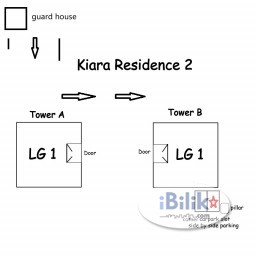 Room Rental in Kuala Lumpur - Car Park for rent at Kiara Residence 2, Bukit Jalil