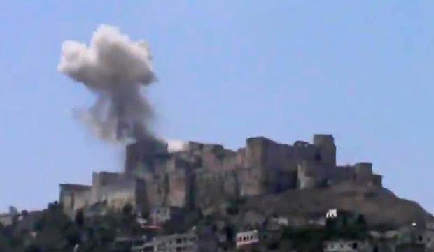 Krak Des Chevaliers bombed