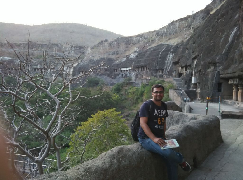 At Ajanta Caves