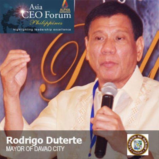 Rodrigo Duterte - Asia CEO Forum