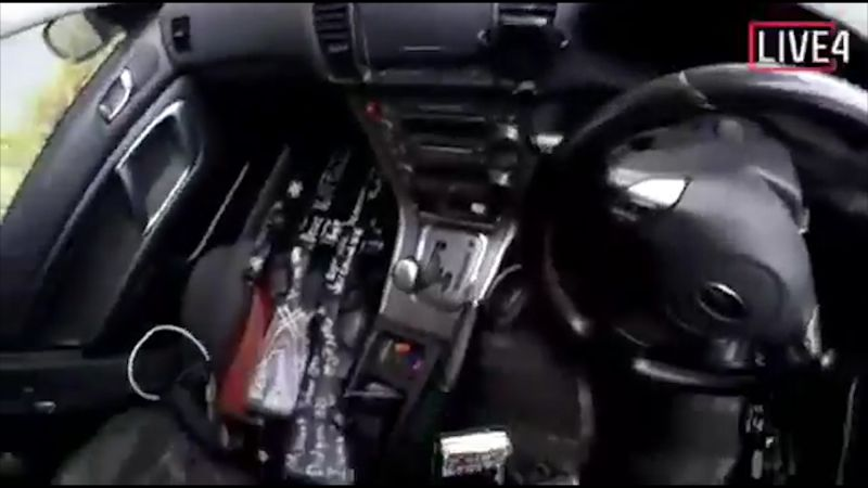 This image taken from the shooter's video, which was filmed Friday, March 15, 2019, guns on the passenger side of his vehicle in New Zealand. (Photo: AP)