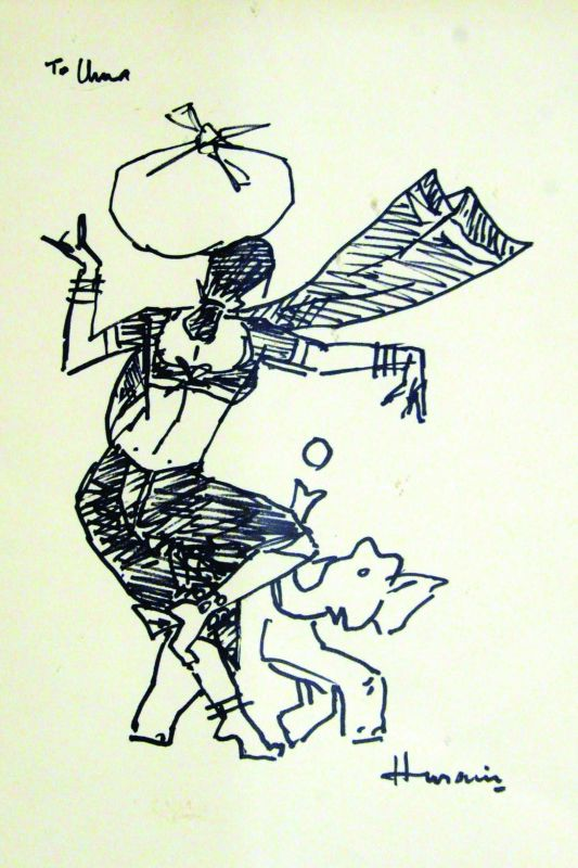 Sketch by M.F. Husain