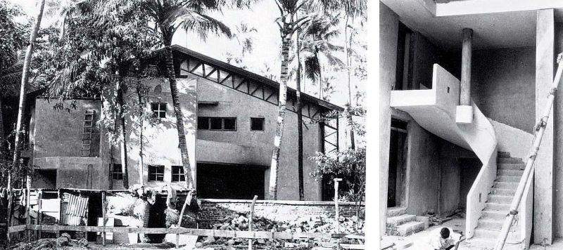 Prithvi Theatre under construction. —Prithvi Archives