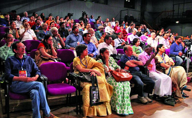 Pin-drop silence prevails in the audience during a panel discussion at the Gateway LitFest's last edition