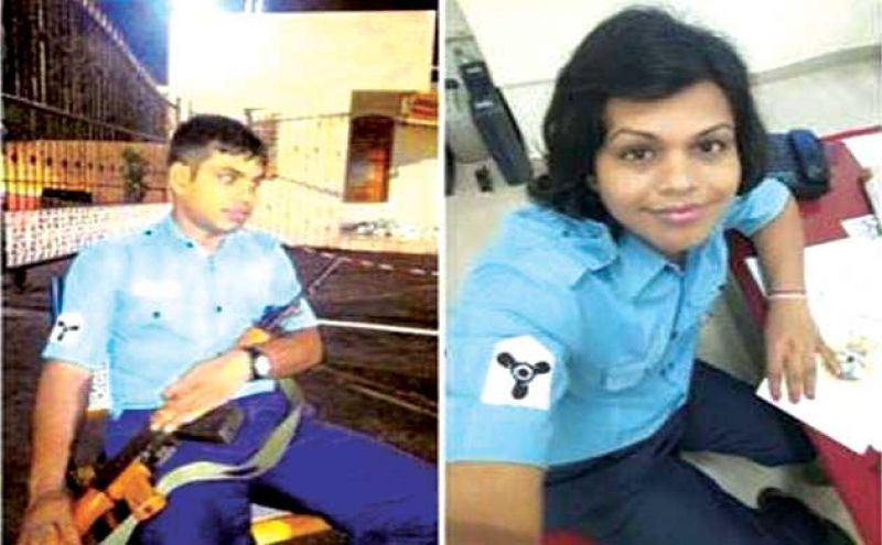 Before and after: Saba Giri (aka Manish Giri) Navy sailor who underwent sex change operation, but has been sacked.