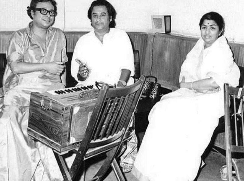 RD Burman, Kishore Kumar and Lata Mangeshkar