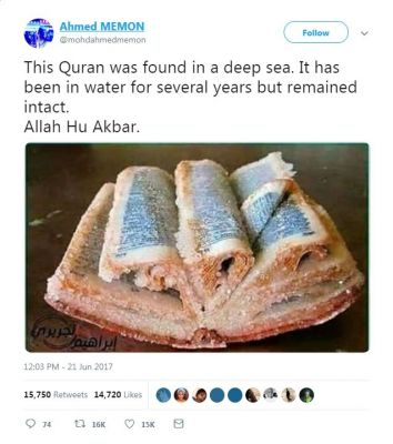 A Bible? A Quran?: Reality check of viral post shows different story