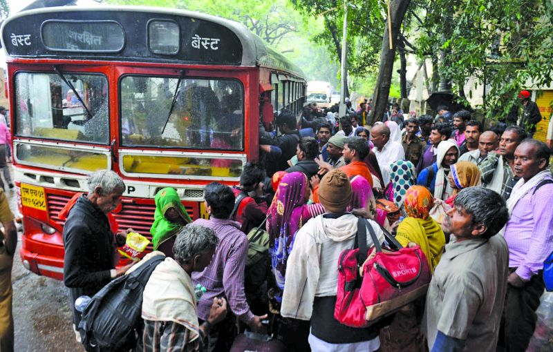 BEST buses arranged for them to reach the school from Dadar station.