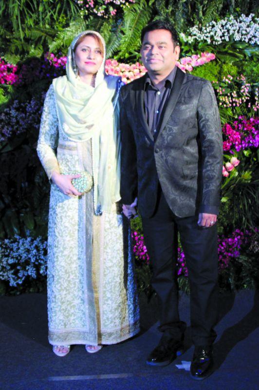 A R Rahman with wife.