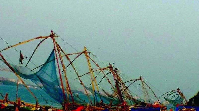 The Chinese fishing nets.