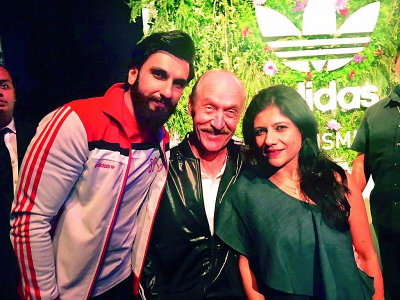 Namrata Joshipura (right) with Stan Smith and Ranveer Singh