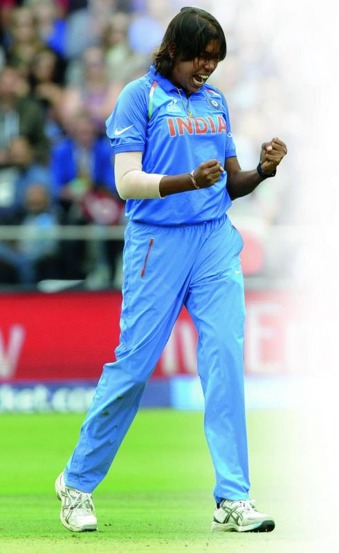 Jhulan Goswami during a World Cup match. (Photo: AP)