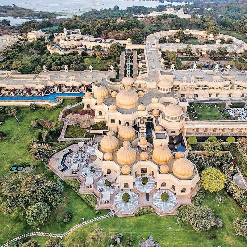The Oberoi Udaivilas venue for the pre-wedding celebrations.