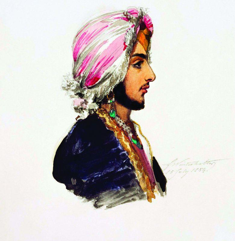 Portrail of Prince Duleep Singh by Franz Winter Halter
