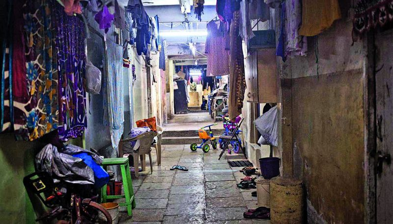 Interiors of a chawl