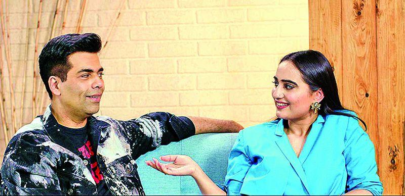 Karan Johar and Kusha Kapila