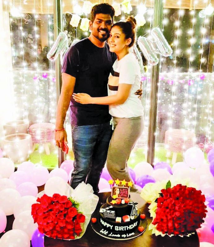 Nayan with beau Vignesh Shivn on her b'day