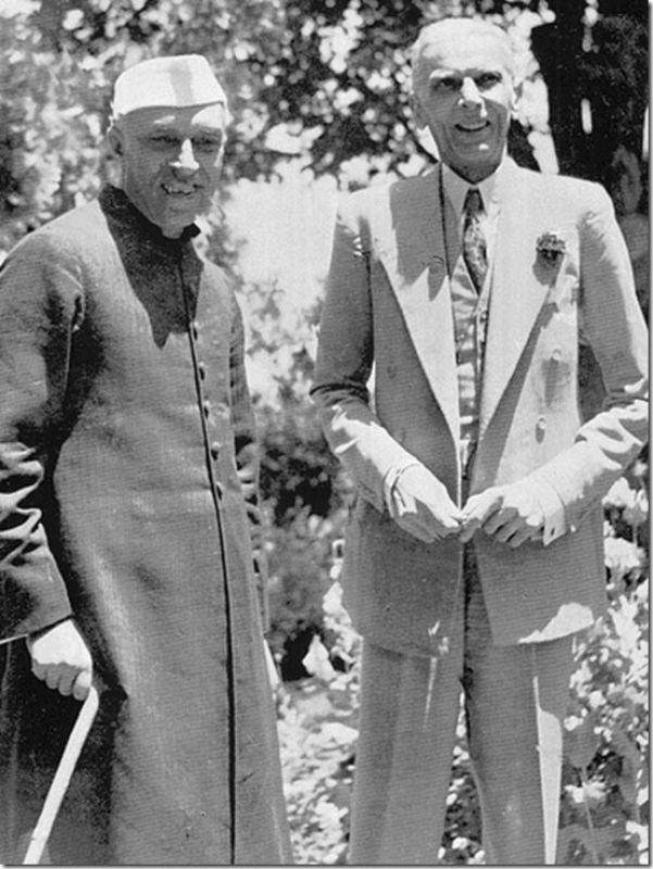 Jawaharlal Nehru with Muhammed Ali Jinnah