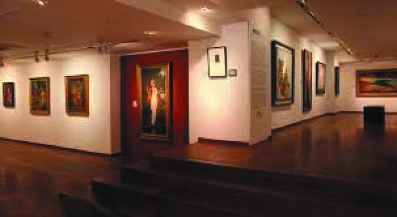 An art gallery in propgress