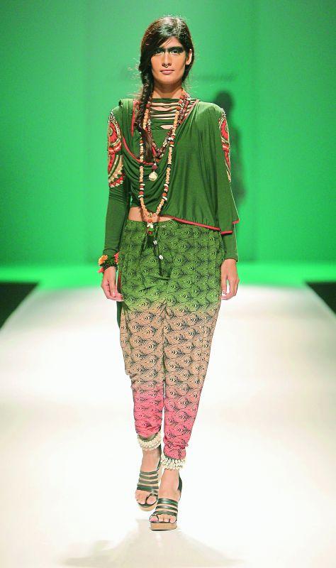 Tribal-inspired creations from designer Malini Ramani