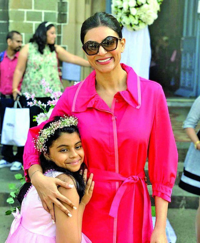 Sushmita Sen with daughter Alisah Sen