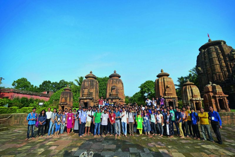 IIT students at Mukteswar temple.