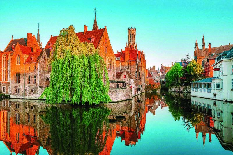A breathtaking view of Bruges
