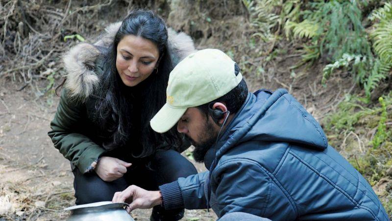 Paakhi during shoot.