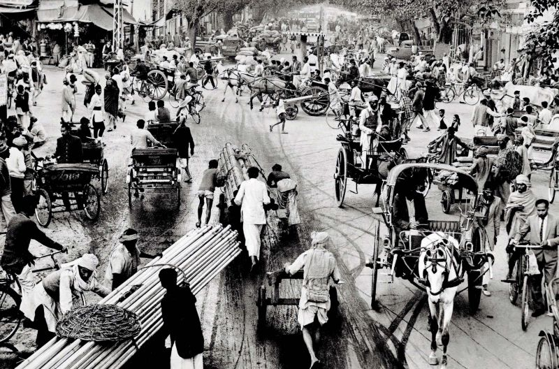 1964: Traffic At Chawri Bazar, Delhi