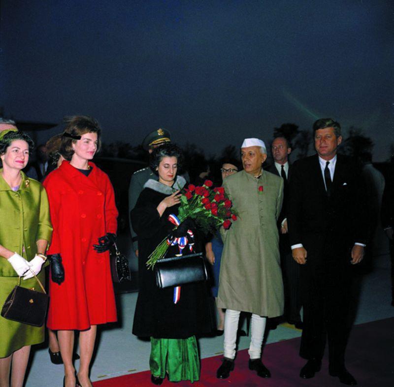 Jawaharlal Nehru with former US president John F. Kennedy