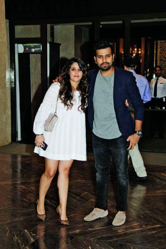 Ritika Sajdeh with husband Rohit Sharma