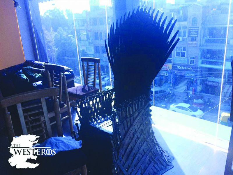 GoT inspired Iron Throne at the city's Westeros Cafe