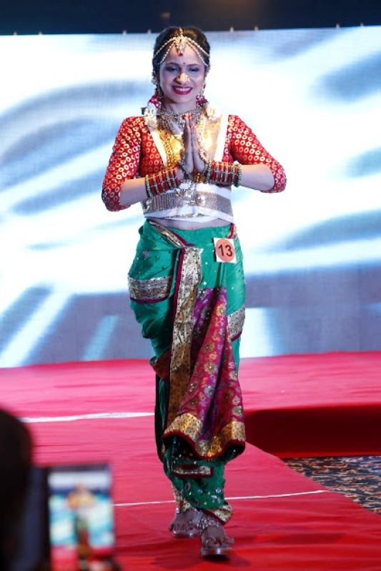 Gorgeous doctor at MWI International beauty pageant as a traditional Konkany bride. (Photo: File)