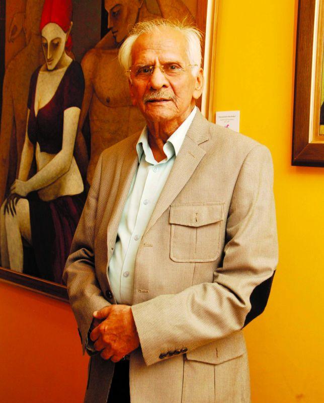 Veteran artist D.P. Sibal