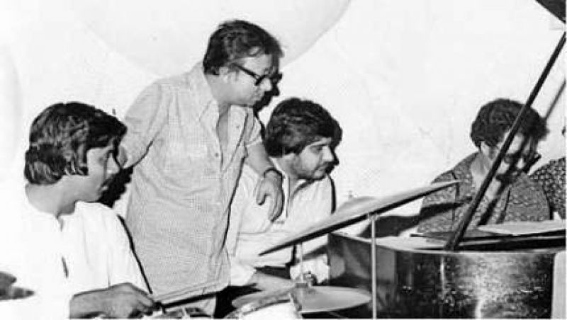 RD Burman with his musicians