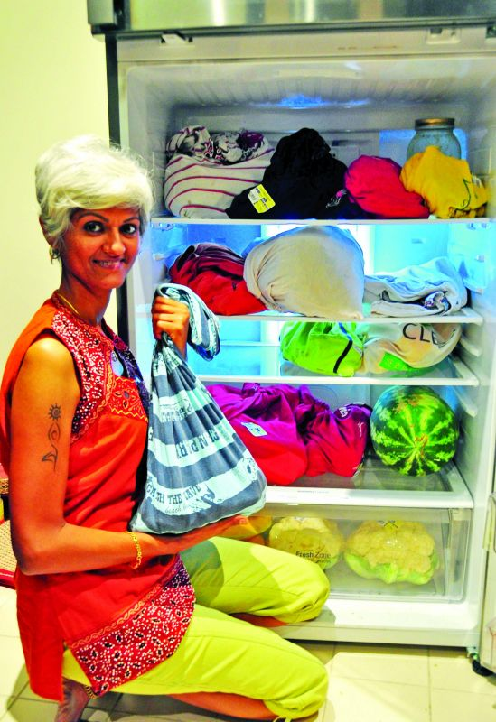 Renuka simply switched to reusable bags.