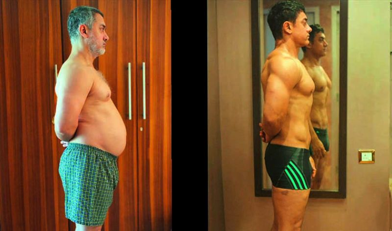 Aamir preferred to put on 25 kilos naturally for his role of Mahavir Phogat in Dangal