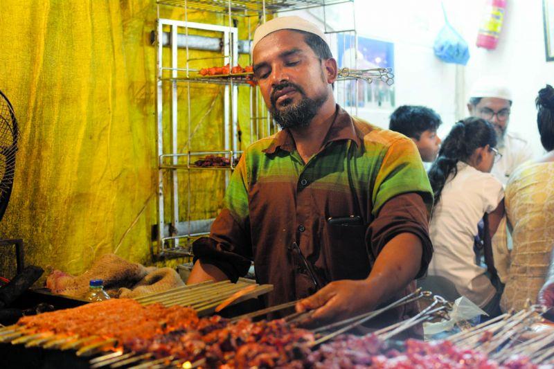Kebabs at Bismillah Corner