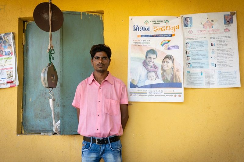 The success of the AVDs lies on the reliable shoulders of health workers like Gagaprasad Saste. The AVD system has also generated employment opportunities for rural unemployed youth, who often volunteer for it. (Photo: MoHFW)