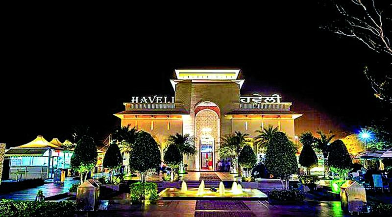 The famous  Haveli restaurant which gives you a feel of village life.