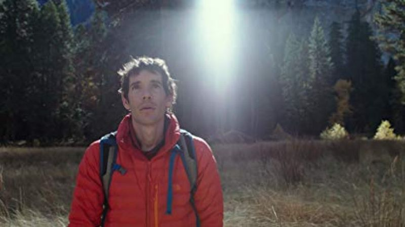 A still from Free Solo.