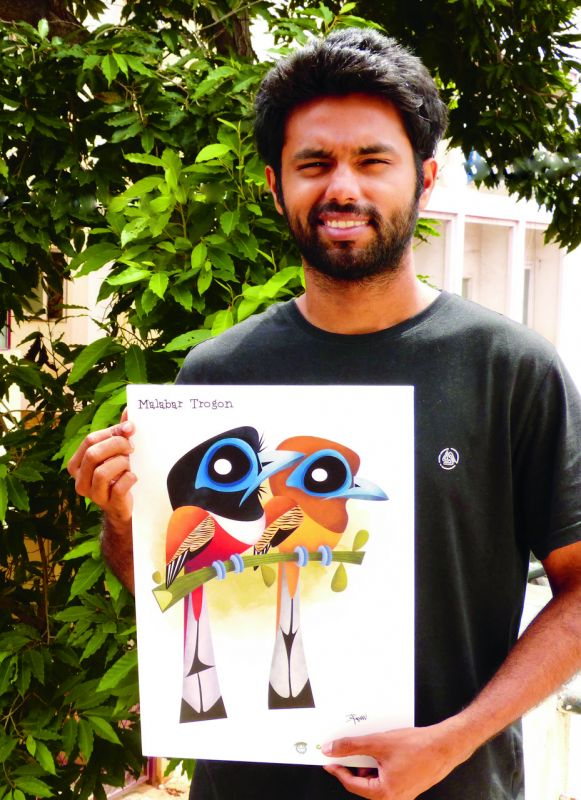 "RBS ""Inspire"" Award winner Rohan Chakravarty with his creation."