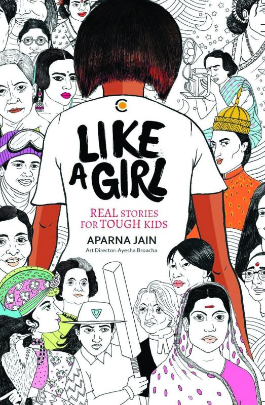 The cover of Aparna's book, 'Like A Girl'