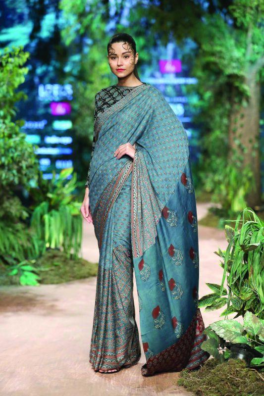 A sari by designer Shalini James
