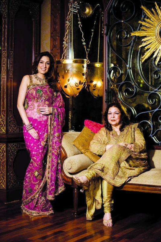 Seema Malhotra with mother Jamila Malhotra